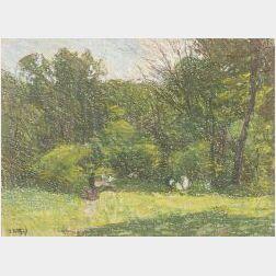 Edward Henry Potthast (American, 1857-1927)  Figures in Central Park