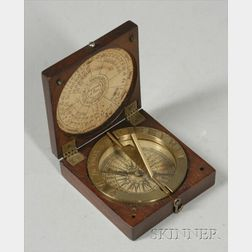 Horizontal Compass Sundial by Watkins