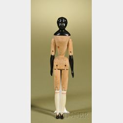 Black China Doll with Wood Body
