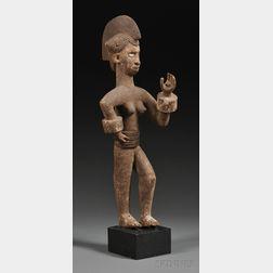 Ibo Carved Wood Figure