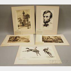 Five Works:      Walter Ronald Locke (American, b. 1883), Pelican Key