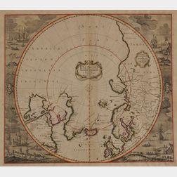 North Pole. Frederick de Wit (1610-1698)   Poli Arctici, et Circumiacentium Terrarum Descriptio Novissima
