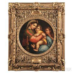 After Raffaello Sanzio, called Raphael (Italian, 1483-1520)      Copy after the Madonna della Seggiola   (or della Sedia  )