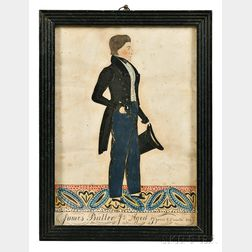 Joseph Davis (act. Maine/New Hampshire, 1811-1865)      Portrait of James Butler