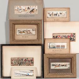 Fourteen Stevensgraph Silk Panels