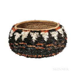 Pomo Feathered Basketry Bowl