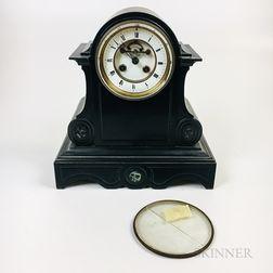 French Slate Mantel Clock
