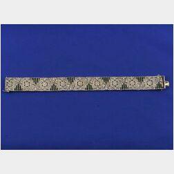 Art Deco Paste Bracelet