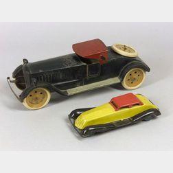 Two Painted-Steel Roadsters