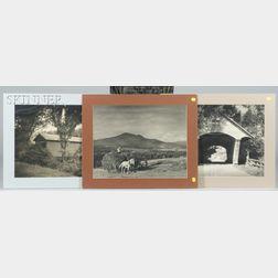 Robert D. Wild (American, 1918-1982)      Three Vermont Views: Covered Bridges in Lyndon