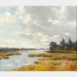 Charles Gordon Harris (American, 1891-1963)      Edge of the Marsh