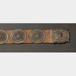Southwest Man's Silver Concha Belt