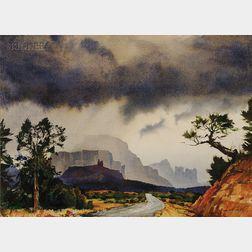 Ted Kautzky (American, 1896-1953)      Oak Creek Canyon, Arizona