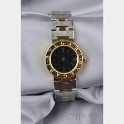 "Stainless Steel and 18kt Gold ""Bulgari Bulgari"" Wristwatch"