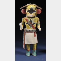 Southwest Polychrome Carved Wood Kachina