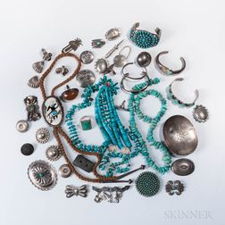 Group of Southwestern Silver Jewelry