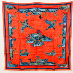 "Hermes ""La Mare aux Canards"" Silk Scarf"