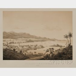 Two German Lithograph Views of St. Croix, Virgin Islands