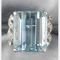 18kt White Gold and Aquamarine Ring, H. Stern