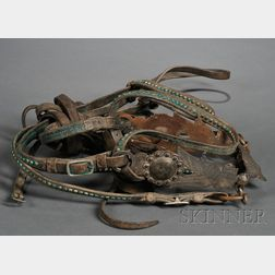 Western Commercial Leather Bridle with California Bit