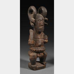 Ibo Carved Wood Ikenga Figure