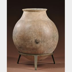 Large Pima Pottery Storage Jar