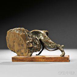 John William Mills (British, b. 1933)      Caged Lion