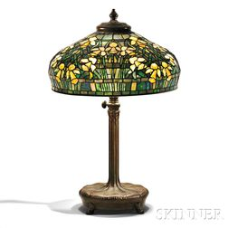 Tiffany Studios Daffodil Table Lamp with Adjustable Standard