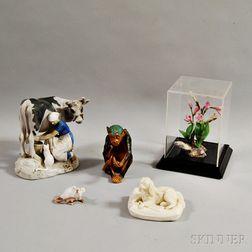 Five Ceramic Figures