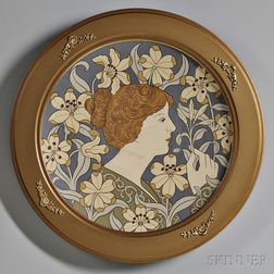 Mettlach Etched Art Nouveau Charger