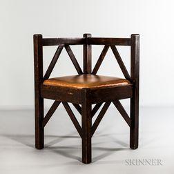 Mission Oak Corner Chair