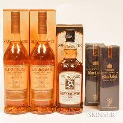 Mixed Scotch, 2 750ml bottles (oc) 1 70cl bottle (oc) 2 20cl bottles (pc)