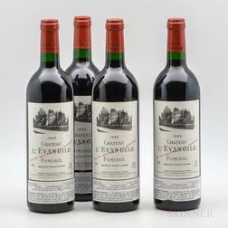 Chateau LEvangile 1995, 4 bottles