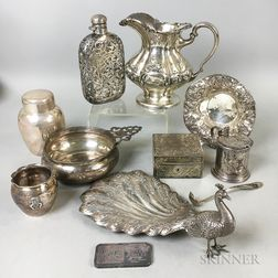 Ten Pieces of Sterling Silver Tableware
