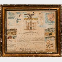 """Watercolor and Pen and Ink """"The Temple of Science,"""""""