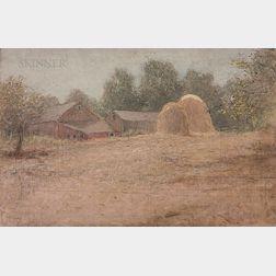 John Ferguson Weir (American, 1841-1926)      Summer Haystacks