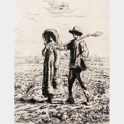 After Jean-François Millet (French, 1814-1875)    Le Départ pour le Travail
