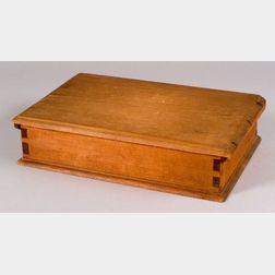 Pine Covered Bible Box
