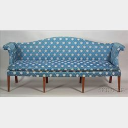 Rare Federal Mahogany Inlaid Sofa