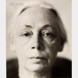 Lotte Jacobi (American, 1896-1990)      Kathe Kollwitz