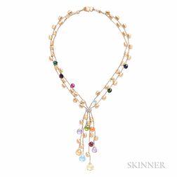 18kt Gold Gem-set Necklace, Marco Bicego