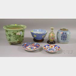 Six Asian Decorated Porcelain Items