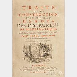 Traite de la Construction and Usages es Instrumens  de Mathematique