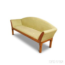 Country Upholstered Maple and Pine Sofa