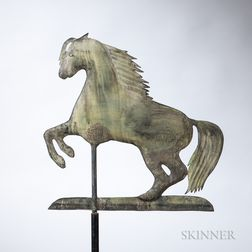 Small Rearing Arabian Horse Weathervane