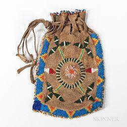 Plains Beaded Hide Bag