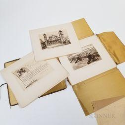 Folio of Thirteen S.S. Columbus   West Indies Etchings
