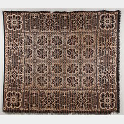 Three-color Woven Wool Coverlet