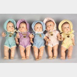 Madame Alexander Dionne Quintuplet Toddler Dolls