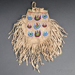 Eastern Sioux Beaded Hide Bag